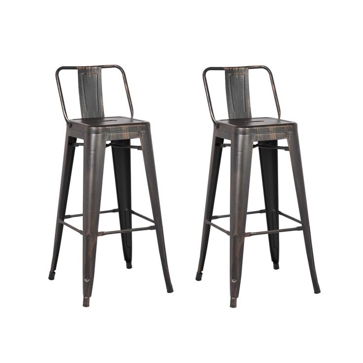 Steel 24 Inch Bar Stool (Set of 2) | Overstock.com Shopping - The Best Deals on Bar Stools