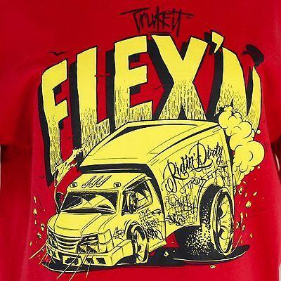 Lil Wayne Trukfit T-Shirt Flex n Graffiti Tee Shirt Large Red 100% Cotton Exc