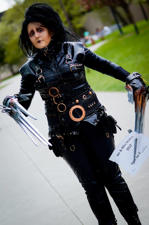 My daughter caitlin in Edward Scissor Hands costume, she does all her own costumes and make up.