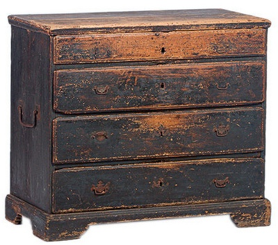 Wow!  Love this 18th century chest of drawers.