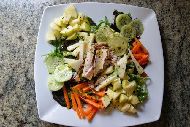 Anna recetas fáciles: Ensalada de bonito con vinagreta de lima, miel y cilantro