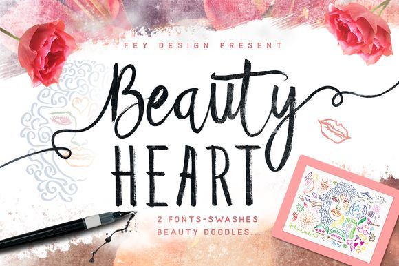Beauty Heart 30% Discount by feydesign on @creativemarket