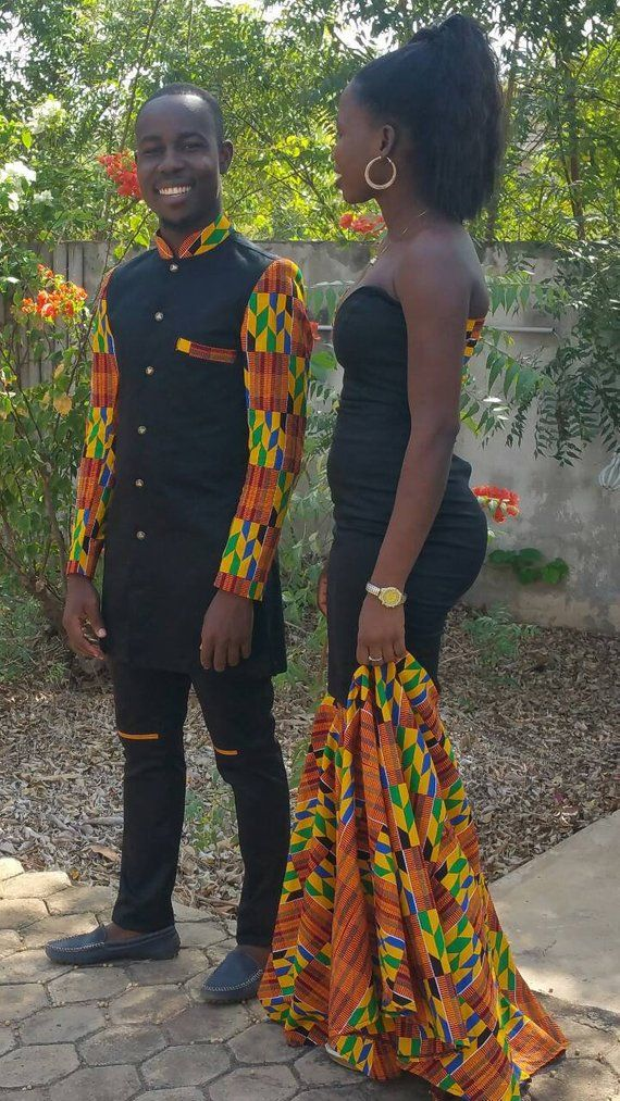 a2d4fb17d3b African Couple s outfit  couple prom dress ankara outfit for couple   dashiki couple outfit  wedding