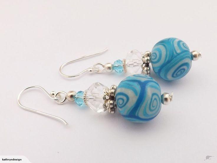 Light Blue Kathryn Design Bead Earrings, 925 Hooks | Trade Me