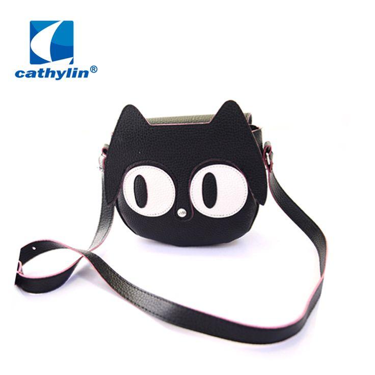 Kawaii Kitty Bag Girls Women Cartoon Leather Lovely Cat Crossbody Shoulder Handbags - Top Kawaii - Best Online Kawaii Shop Top Kawaii - Best Online Kawaii Shop