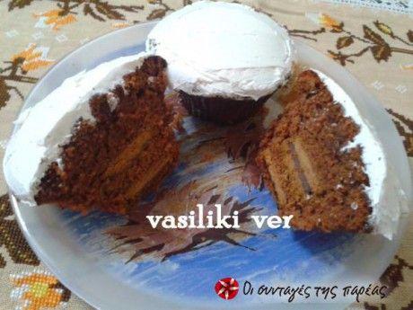 Cupcakes σοκολάτας με oreo