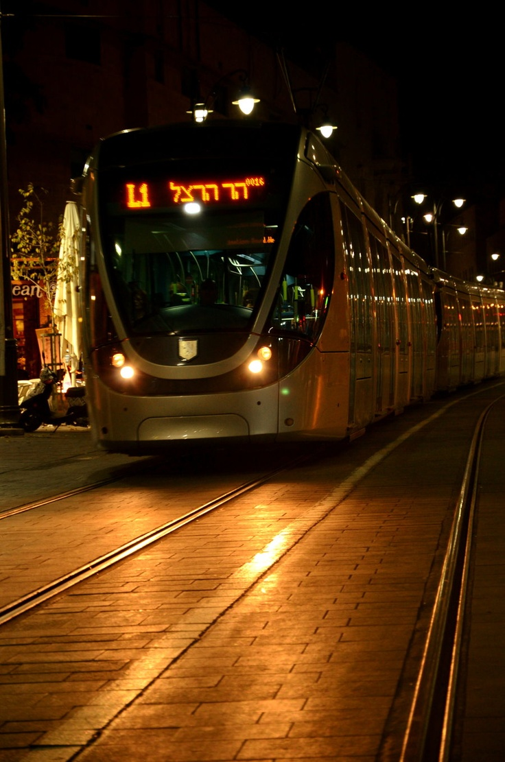 Not even sure this needs a driver! The glamorous new 'Light Rail' in #Jerusalem, #Israel. Public transport.
