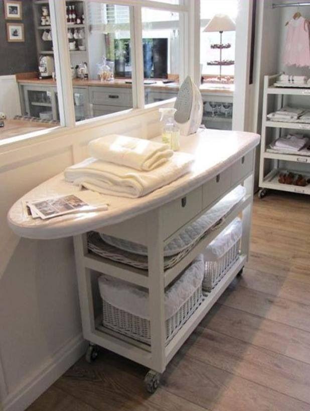 Det här är ju precis vad jag behöver! Toppenidé. Förhöja rullbord Ikea.