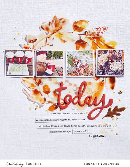 Scrapbook by Timi Biro: Fall day