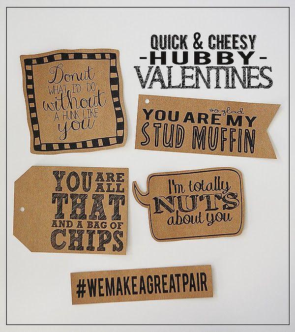 eighteen25: Quick & Cheesy Hubby Valentines