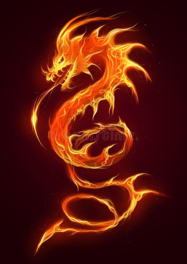 Fire Dragon Fire Ophidian Dragon On The Dark Background Ad Dragon Fire Ophidian Background D Dragon Illustration Fire Dragon Fire And Ice Dragons