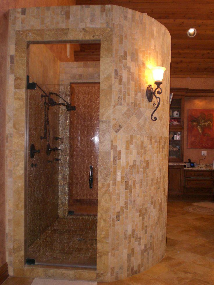 16 best ideas about showers without doors on pinterest Walk in shower designs