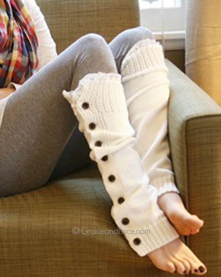 Super cozy leg warmers