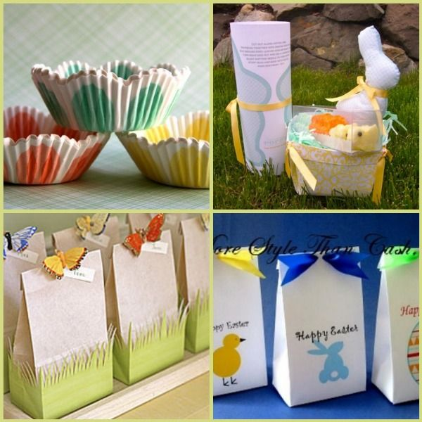 86 best easter treat bags and boxes images on pinterest treat goodie bags using white sacks with grass border negle Images