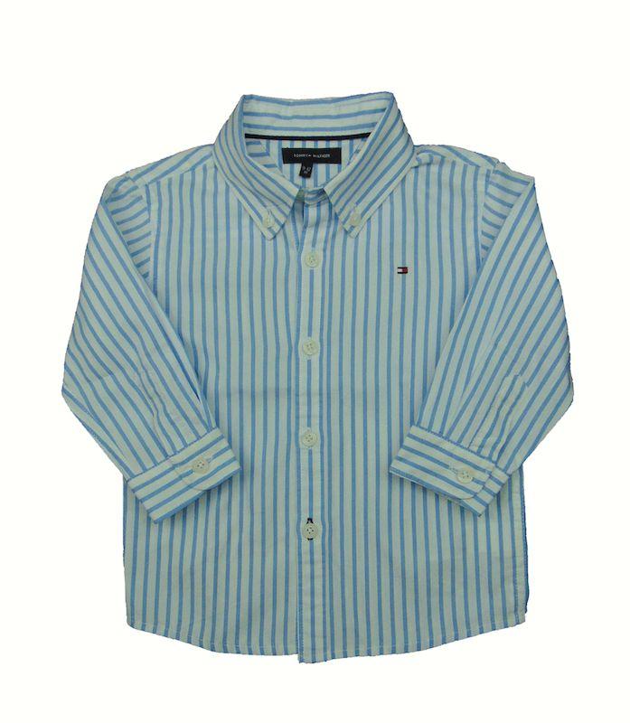 """Camisa de rayas de 12 meses de Tommy Hilfiger-9,50€.Prenda de segunda mano """"supernueva"""" de nuestra tienda online. Ropa de la mejores marcas a precios insignificantes www.charamusco.com"""