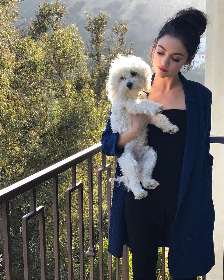 Lucy Hale's dog is so cute!