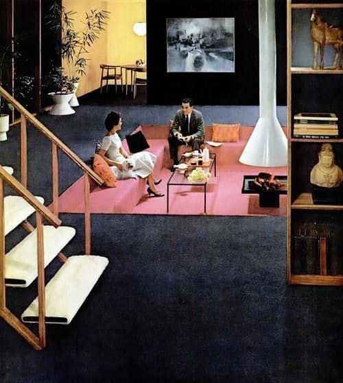 The post I wrote last week about groovy 70s furniture got me thinking about conversation pits. I'm convinced that conversation pits were the pinnacle of architectural evolution, and it's all been downhill from there. Maybe we're just afraid of that kind of greatness. But it's 2015, y'all. We've accomplished so much, and we've come so far. I think it's time to bring the conversation pit back.