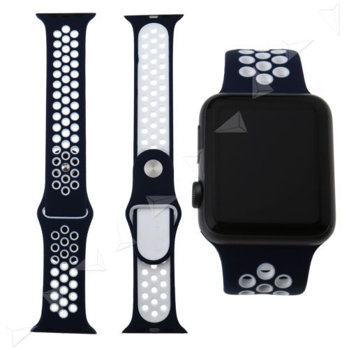 For-Apple-Watch-Band-Series-42mm-Nike-Sports-Strap-Replacement-blue-white