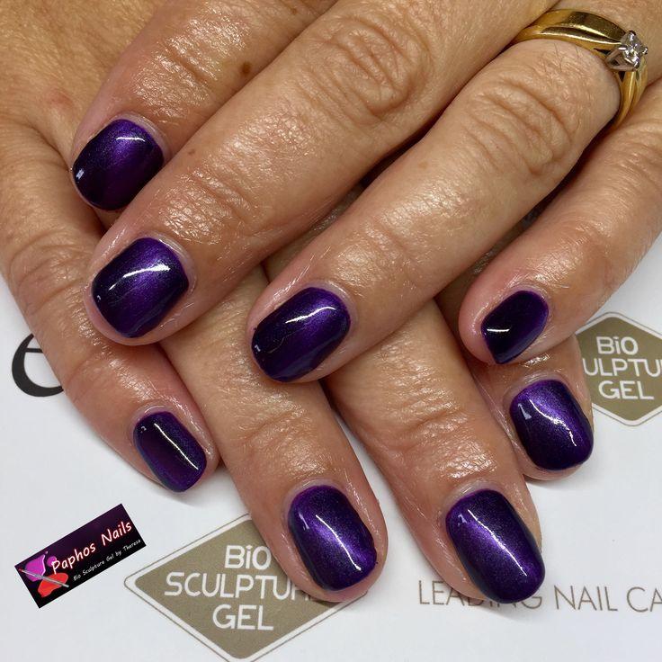 #evobybiosculpturegel #evonails #margaret #purple #reflectiveline #magnet #biosculpturenails #paphosnails #biosculpturebytheresa #kissonerganails #biosculpturecyprus
