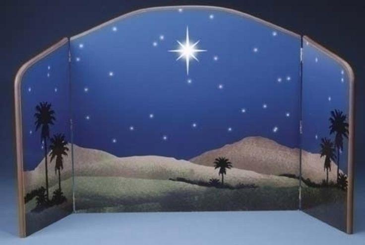 "Amazon.com: Fontanini 5"" Star of Bethlehem Nativity Background Scene #54307: Arts, Crafts & Sewing"