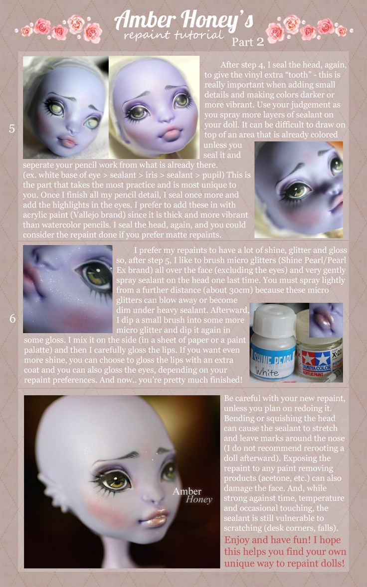 Custom Monster High doll repaint how to by Amber Honey (Part 2).