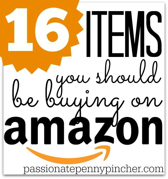 16 Items You Should Be Buying On Amazon