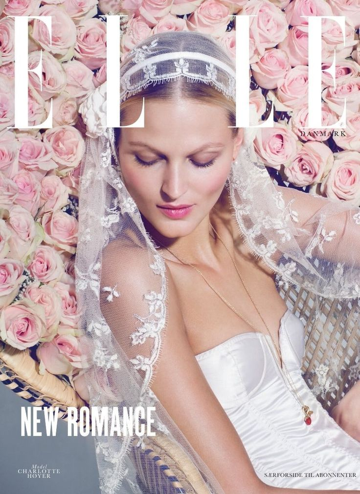 Bridal veil by Maria Fekih. Special edition cover of ELLE Denmark #marts 2014 beautiful captured by photographer Olivia Frølich
