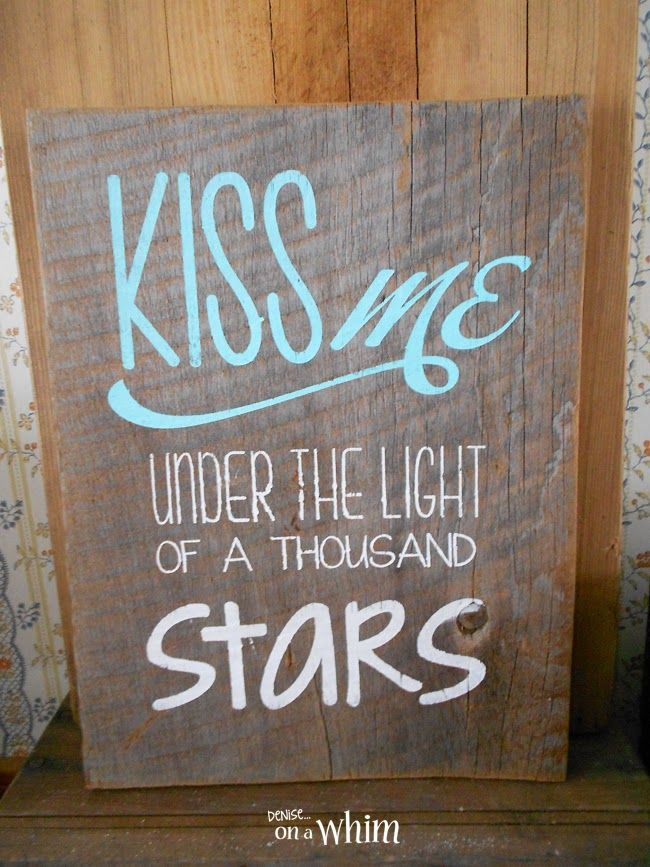 Love Is in the Air Valentine Signs | Under the Light of a Thousand Stars Wooden Sign from Denise on a Whim
