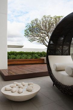 Love the wood planter box look- Harrisdale - contemporary - patio - perth - Tim Davies Landscaping