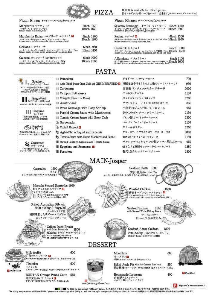 spanish food menu example
