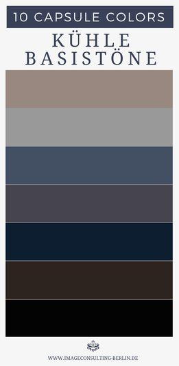 Blogartikel 'Capsule Colors – Your 10 Best Colors'. coole basiskleuren – opti …