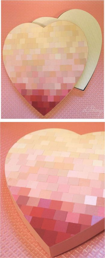 DIY - Creating a pretty lid for a purchased heart shape box of chocolates Tutorial.