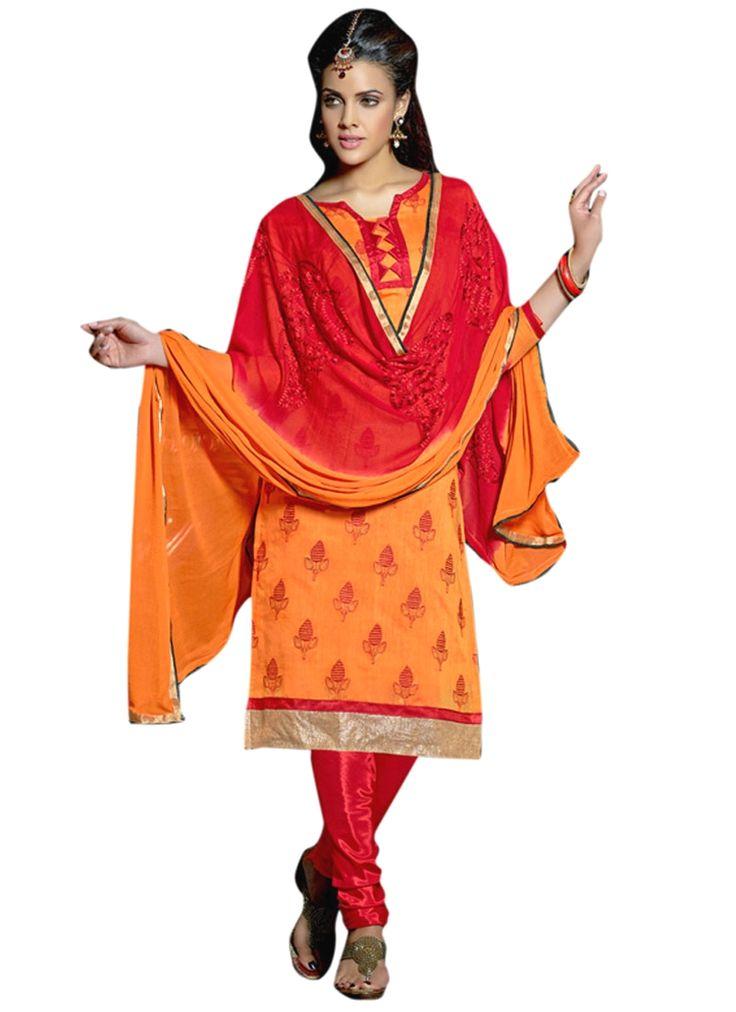 Glamorous Lace Work Chanderi Churidar Suit