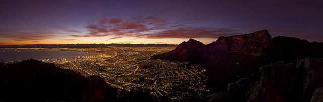 Moment before sunrise in Cape town. Well I had to climb up mountain for this shot very early morning. | Flickr - Photo Sharing!