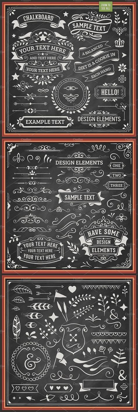 Ad. Chalkboard Design Elements by Swedish Points on Creative Market