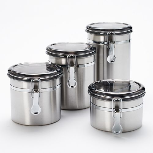 Food Networktm  Pc Stainless Steel Kitchen Canister Set