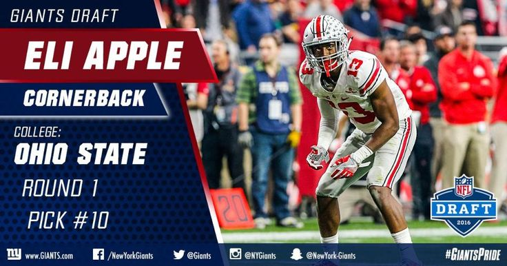 I would of rather the Giants had picked Laremy Tunsil. . But hopefully Eli Apple turns into an All Pro. 2016 ny giants draft class | Photos: Giants 2016 Draft Class