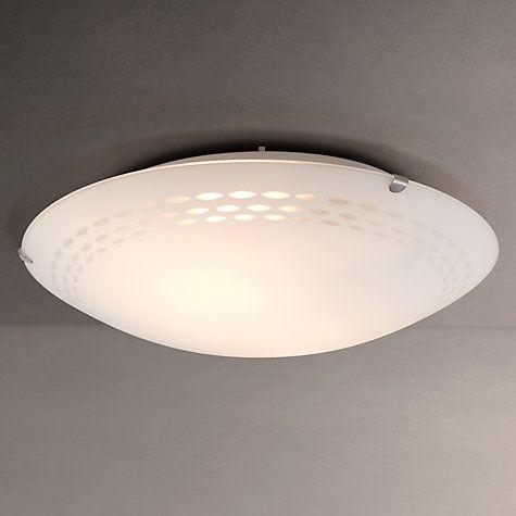 Buy John Lewis Dash Flush Ceiling Light, White Online at johnlewis.com