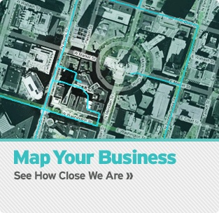 Map your business to see how far you are from our network!