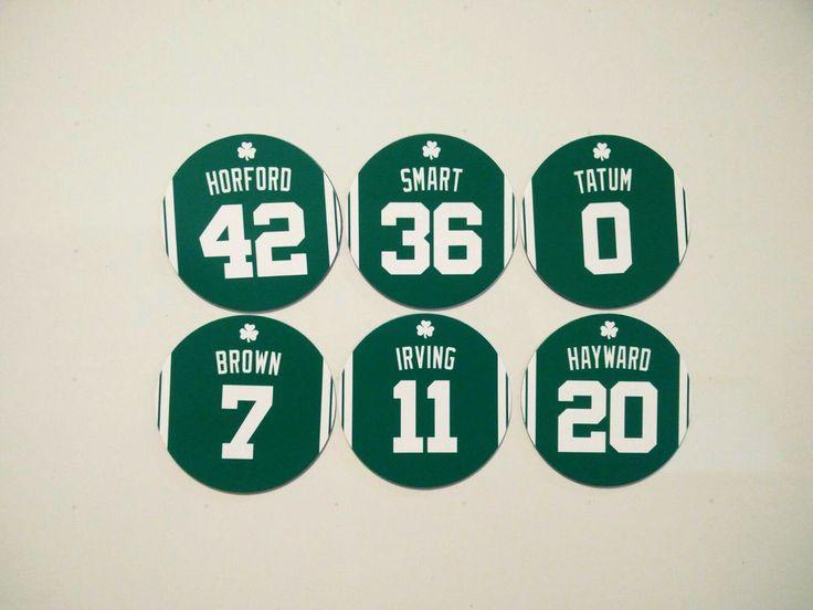 Boston Celtics Refrigerator Magnets Horford, Irving, Tatum, Brown, Smart Hayward $9.50 #BostonCeltics #kyrieirving