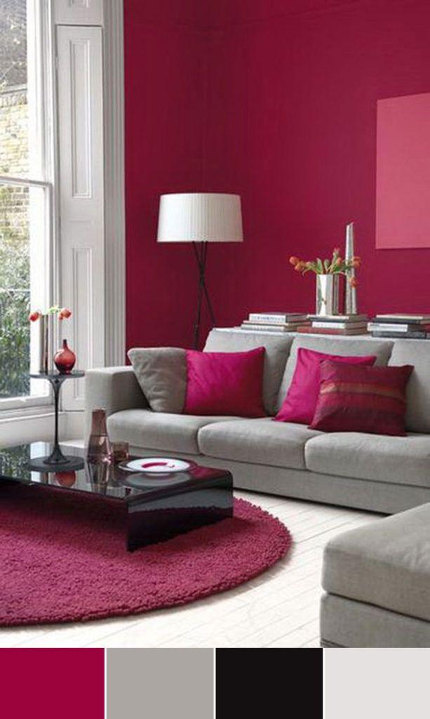 40 Combinaciones De Colores Para Pintar Un Salon Pink Lemonade In - Colores-para-pintar-salon