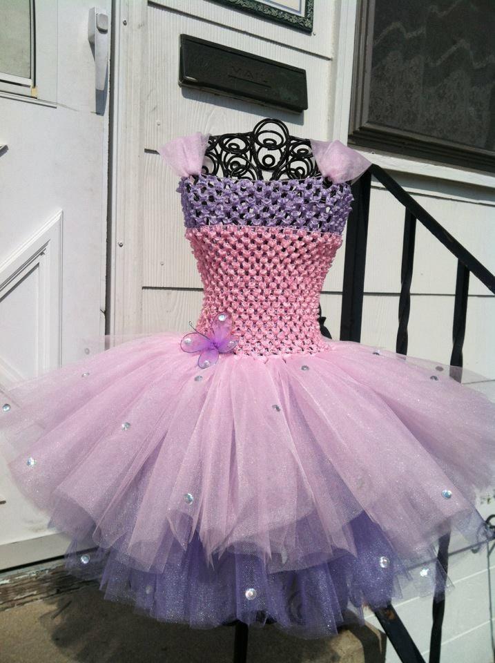 Light pink and lavender Tutu dress 2T-3T. $30.00, via Etsy.