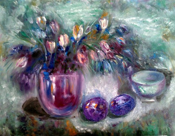 Oil paintings – Spring has come – a unique product by lavr on DaWanda