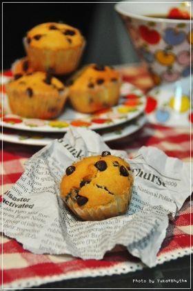 「がっつりチョコのチョコチップマフィン」yukari   お菓子・パンのレシピや作り方【corecle*コレクル】