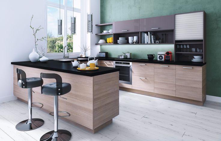 17 meilleures images propos de la cuisine qui vous for Cuisine amenagee bleue