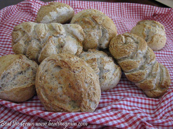Crusty gluten-free rolls