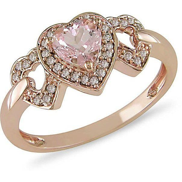 Love the design, BUT it has to be real.... Rose Gold, Pink Diamond Center, Diamond accents
