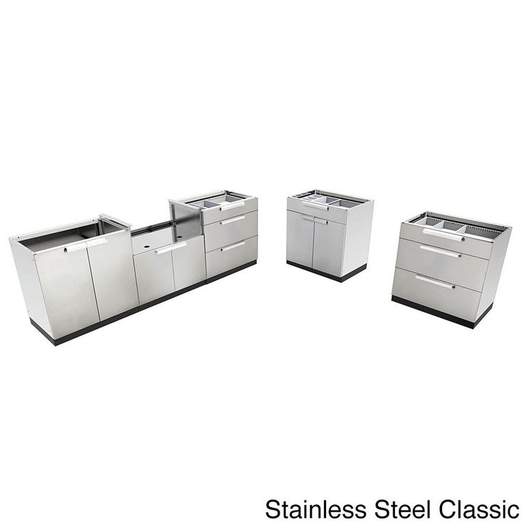 NewAge Products Stainless Steel (Silver) Outdoor Kitchen Cabinets - outdoor küche edelstahl
