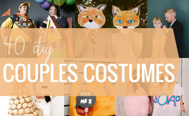 40 Totally Clever DIY Costumes for Couples