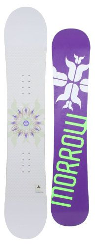 Morrow Lotus Snowboard w/Rossignol Zena Bindings White/Light Blue | on Sale at TightBoards.com
